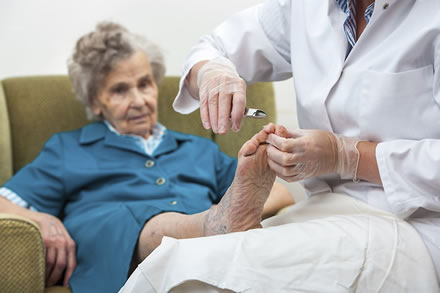 elderly foot care